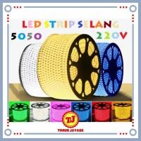 Lampu Led Strip Selang SMD 5050 220V Waterproof Led Selang Per 1 Meter