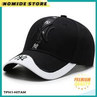 Topi Baseball Import NY New York Outdoor Snapback Premium Quality MBL - Hitam