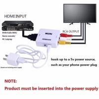 Konverter HDMI To RCA ( AV ) Adapter - Putih
