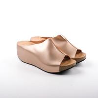 FLADEO Sandal Wedges Wanita [LDJ242-1RV] - Cream, 37