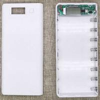 DIY Power Bank Case 2 USB Port & LCD 8 x 18650 Casing Powerbank - Putih