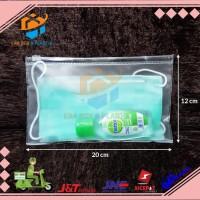 Plastik Mika Zipper Uk. 20x12 cm | Dompet Zipper Untuk Masker
