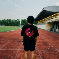 Halu Pink Banana T-shirt FW20 Space Coffee Roastery - Black