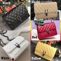 Mini Sling Bag Wanita T1666 Tas Selempang Rantai Kulit Quilted Import