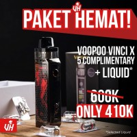 PAKET VOOPOO VINCI X 5 COIL AIO KIT MOD POD 70W BY VOOPOO AUTHENTIC