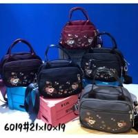 Tas Wanita Import Jinjing Selempang BOBO BB6019 6019 Bordir Bunga