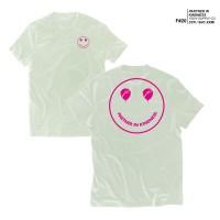 KAOS PUTIH - FRUDDY DUDDY - FDDY - PINK SMILE