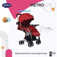 Kereta Dorong Bayi Stroller Pliko BS 508 AL METROLITE
