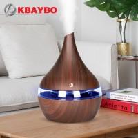 Aroma Diffuser Ultrasonic Air Humidifier Aromatherapy Wood Grain 300ml