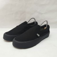 sepatu Vans slip on full black premium Quality