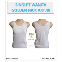 1 PC Singlet Basic / Kaos Dalam Wanita Tali Lebar Golden Nick art. 48
