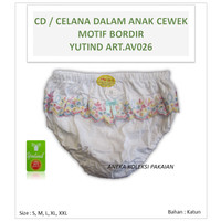 Celana Dalam / CD Anak Perempuan Bordir Bunga Cantik Yutind art.AV026