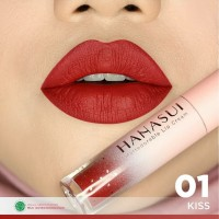 HANASUI Mattedorable Lip Cream - 01 Kiss