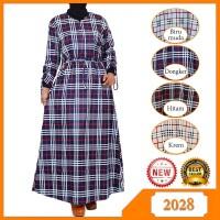 Baju Gamis remaja / wanita muslimah Motif Kotak-kotak Bahan Katun