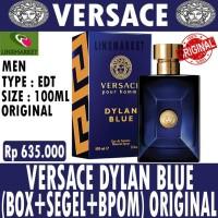 ORIGINAL PARFUM VERSACE DYLAN BLUE POUR HOMME 100ML BOX SEGEL BPOM