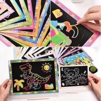 Mainan Jadul Scratch Book Mainan Anak Gosok Buku Magic Scratch