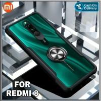 Case Xiaomi Redmi 8 Soft Hard Fusion Tpu HD Transparan Ring