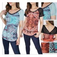 Sale Blouse Wanita Branded 26455- 23ae-exp-mr- red abstract mixed
