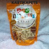 Pet8 dog bone round biscuit 400gr snack gigitan cemilan untuk anjing