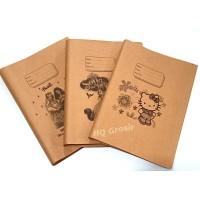 Sampul Buku Tulis Coklat Motif - 1 Pack isi 95 lbr