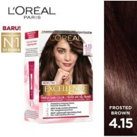 Loreal Excellence Creme Pewarna Rambut #4.15 frosted brown coklat
