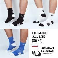 Kaos Kaki Panjang Nike Elite Olahraga Basket Crew Socks Tebal Premium