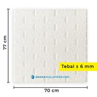 Wallpaper Dinding 3D Bata Putih 70 x 77 cm