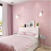 Wallpaper Dinding 3D Bata Pink 70 x 77 cm