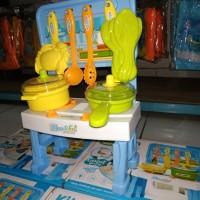 Mainan anak cewek perempuan kitchen set ada suara lampu murah