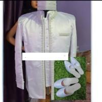 Beskap pengantin-stelan-pakaian pengantin motif mutiara