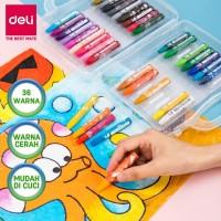 Deli Oil Pastel Crayon 36 warna cerah sempurna tidak beracun EC20134