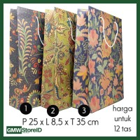 W488 Paper Bag Goodie Bag Halus Tas Souvenir Besar Paperbag Batik