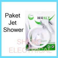 Paket Jet Shower Closet Kloset Semprotan Kran Cebok Keran Toilet Set
