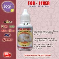 FOR FEVER Obat Kucing Panas Demam Flu Alergi Infeksi Pereda Nyeri