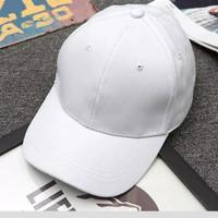 topi baseball unisex (pria wanita) warna hitam polos murah bagus