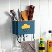 Rak Serbaguna Tempat Alat Dapur Sendok Garpu Kitchen Kamar Mandi 2in1