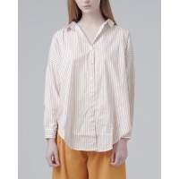 This Is April - Karla Striped Top Mustard 611066