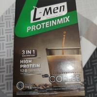 L-Men Lmen Proteinmix 3in1 Susu Whey Protein Kopi Energi Isi 6 Sachet