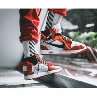 Sepatu Nike Off White Air Jordan 1 Retro High Chicago Premium Original