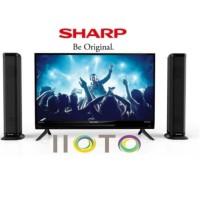 TV LED SHARP 2T-C32BB1I-TB 32INCH + SPEAKER TOWER