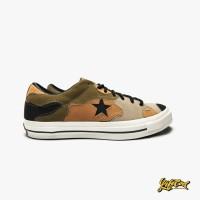 Sepatu Sneakers Pria Converse One Star Ox Camo Black Olive Original