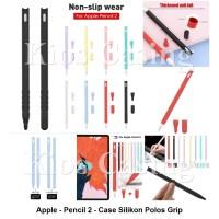 Apple Pencil 2 2nd Gen - Grip Soft Case Cover Silikon Karet Sleeve Cap