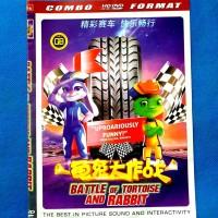 Kaset DVD Film Battle Of Tortoise And Rabbit Animasi Hiburan Anak