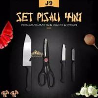Pisau Dapur - Pisau Set 4in1 - Kitchen Knife Set 4in1 Stainless Steel