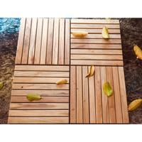 Decking Tile kayu jati kebun-kolam-teras 30x30