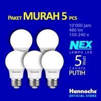 Hannochs Lampu LED NEX 5 watt Cahaya Putih ( PAKET 5 PCS )