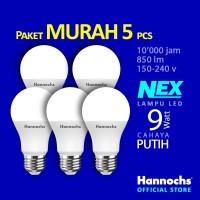 Hannochs Lampu LED NEX 9 watt Cahaya Putih ( PAKET 5 PCS )