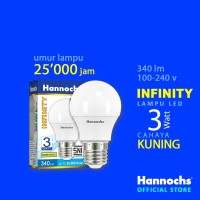Hannochs Lampu LED Infinity 3 watt cahaya Kuning