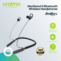 Oraimo Necklace 2 Bluetooth Earphone OEB-E74D - Hitam