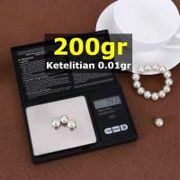 MINI Timbangan Perhiasan Emas Pocket Scale 200gr 0.01g VSW0083